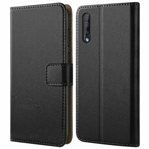 Samsung A50 Genuine Leather Wallet Case