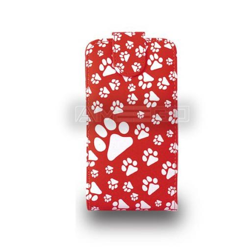 Animal Footprint Flip Case ( PU Leather ) for SONY