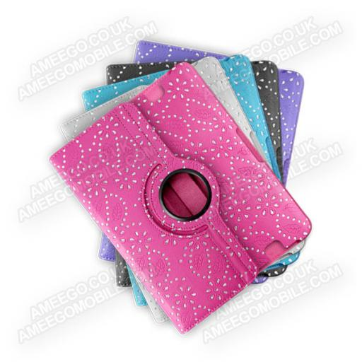 "Kindle Fire HD 8.9"" Diamond Floral Pattern 360 Rotating Case - 5 Colours"