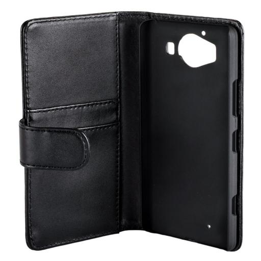 Nokia Lumia 950 PU Wallet Case Black