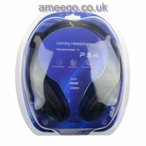 Large Wired Headset with mic for PS4