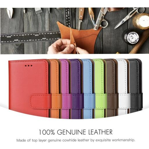 iPhone XS Max Genuine Leather Wallet Case