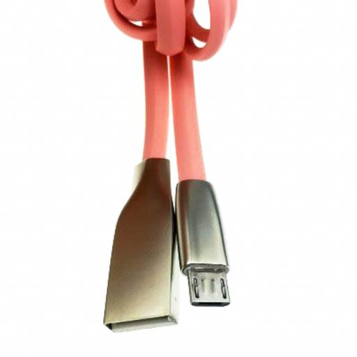SLEEK METALLIC 1M CABLE FOR  MICRO USB AS SAMSUNG HTC SONY HUAWEI