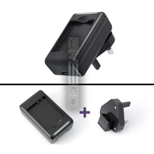 Battery Charger with USB Port for Blackberry Phones - Various Models