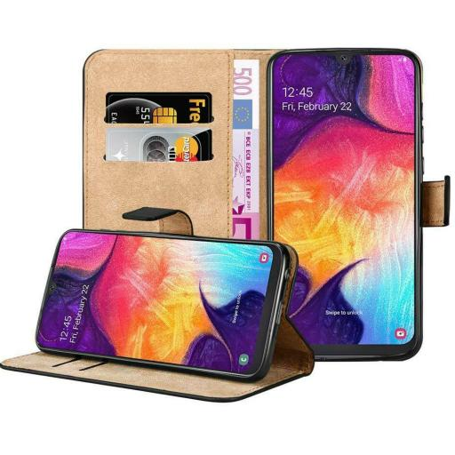 Samsung A30 Genuine Leather Wallet Case