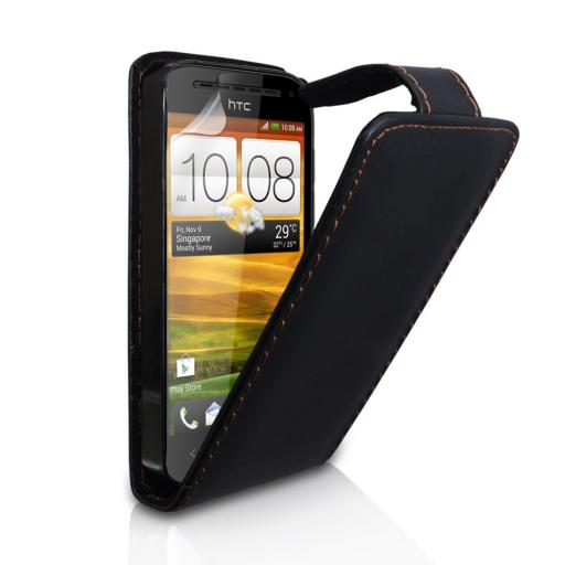 PU Filp leather case for HTC