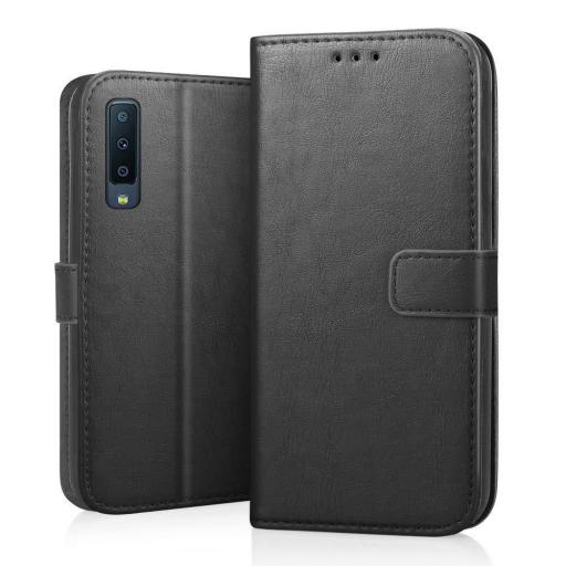 Samsung A7 2018 Genuine Leather Wallet