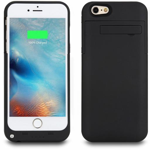 External Battery Case Power Bank 4800 mAh for iPhone i6P 6SP - Black