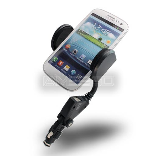 Universal Car Charger & Holder (55-110mm)