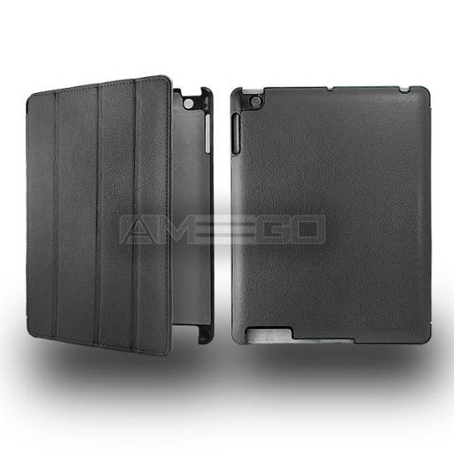 iPad 2 / 3 PU Leather Ultra Smart Case with Hard Back - Various Colours