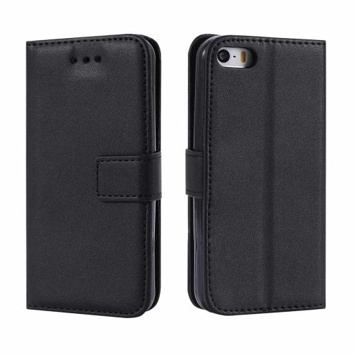 iPhone 5/5S/SE Genuine Leather Wallet Case