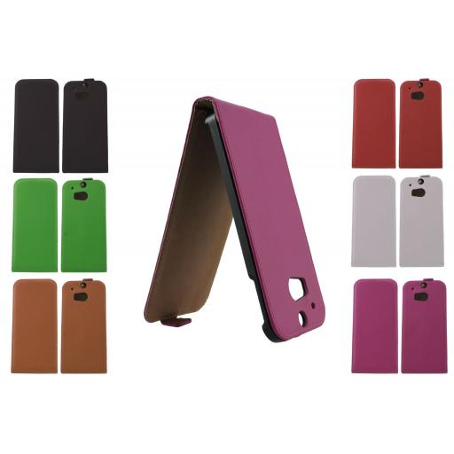 Real Leather Flip Case FOR HTC ONE M8