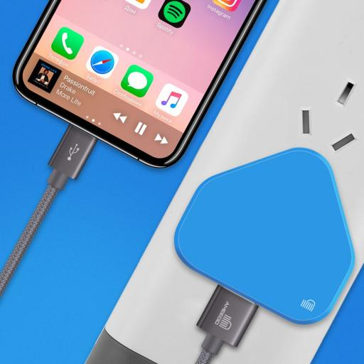 Compact Design USB  Mains Charger  1 Amp - 10 Colours