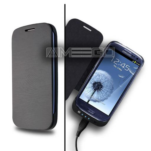 3200mAh Samsung S3 Power Case - Black or White Colour