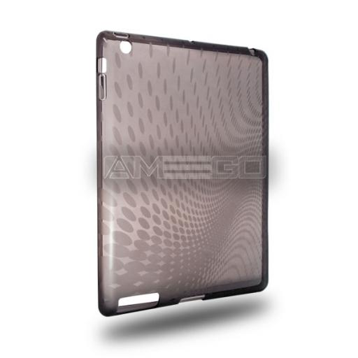 iPad 2 / 3 / 4 Clear Gel Back Case - Dotted Wave Pattern