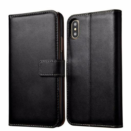 iPhone XS Genuine Leather Wallet Case