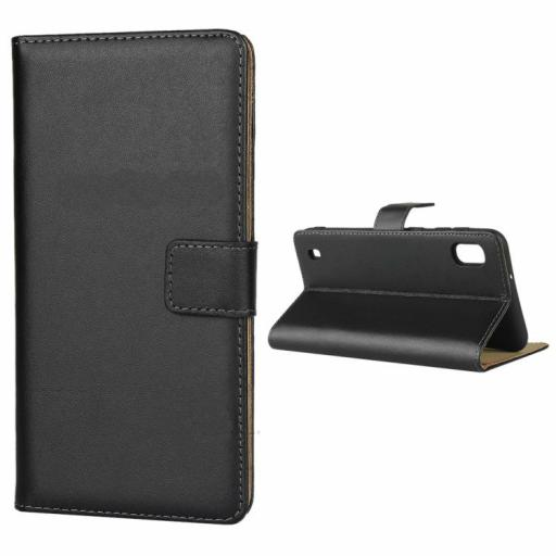 Samsung A10 Genuine Leather Wallet Case