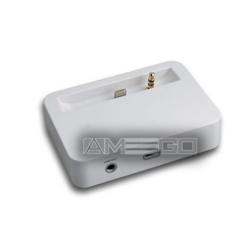 Audio Out Sync Charger Dock for iPhone 5 - Black or White Colour