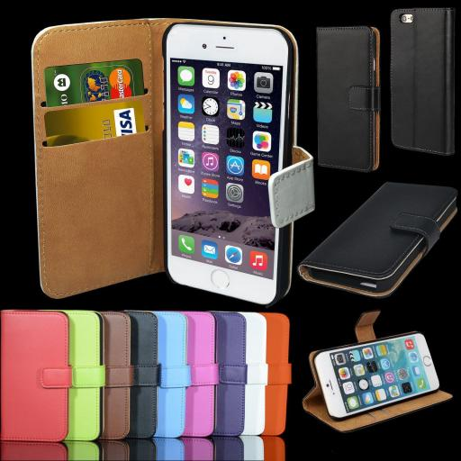 iPod Touch 4 Genuine Leather Wallet Case
