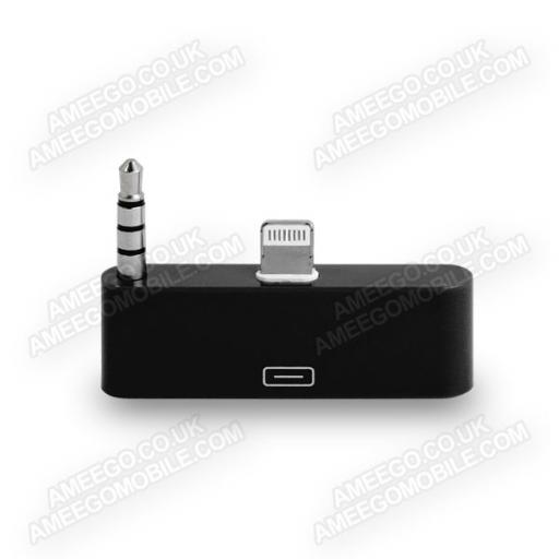 Lightning 8 Pin to 30 Pin Audio Dock Adaptor - 8 Colours
