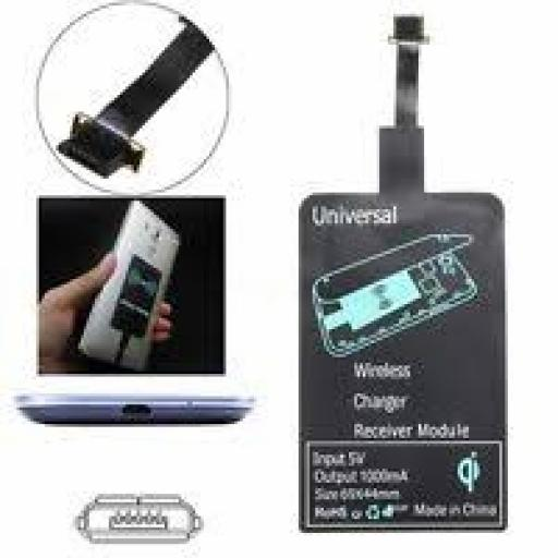 Wireless Charging Qi Receiver Micro 1 USB Universal for Android Phones and Tablets