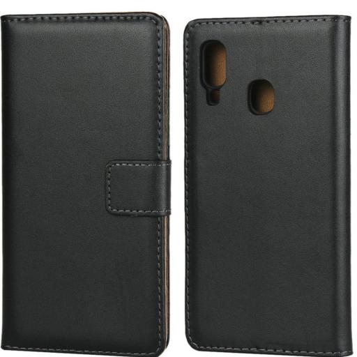 Samsung A20 Genuine Leather Wallet Case