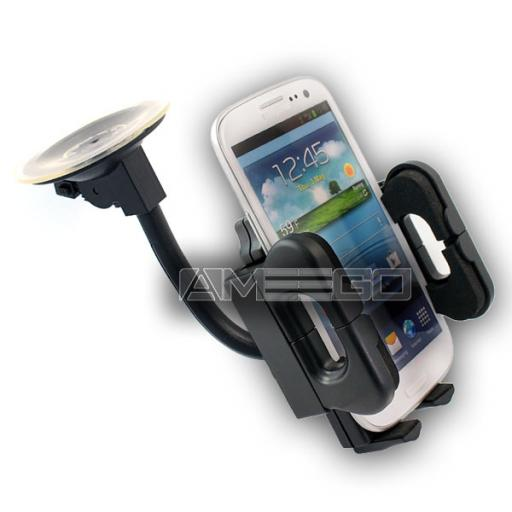 Universal Flexible Car Holder for Smart Phones (50-115mm) Long Neck