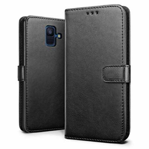 Samsung A6 2018 Genuine Leather Wallet