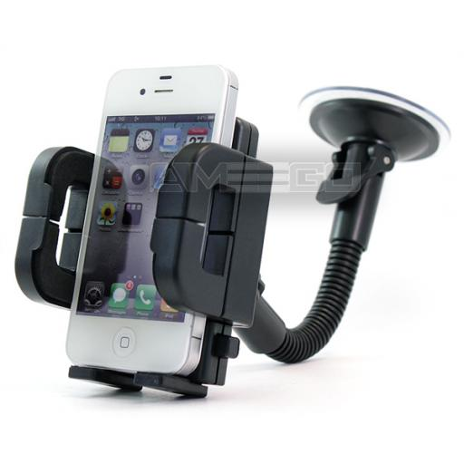Air Vent Holder & Windshield Mount Set for Smart Phones (50-120mm)