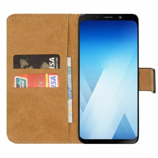Samsung A8 2018 Genuine Leather Wallet