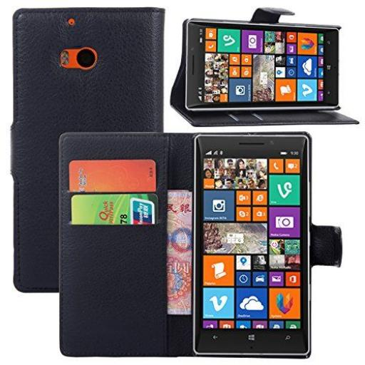 Nokia Lumia 930 PU Wallet Case Black
