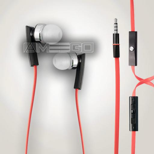 "3.5"" Jack Universal Handsfree Earbuds with Mic and Remote - Black, White or Red Colour"