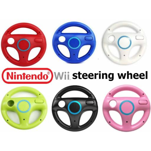 Wii Steering Wheel - 3 Colours