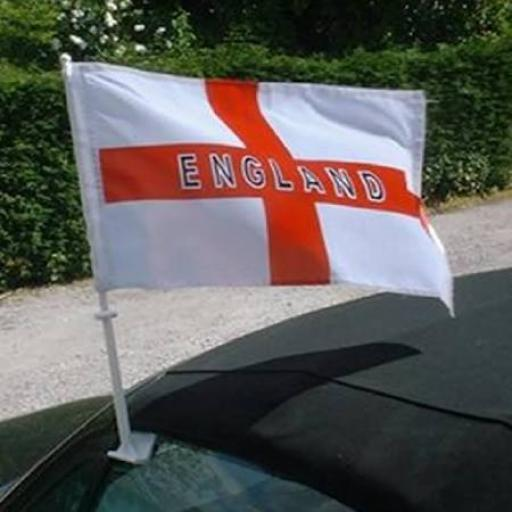 "England St. Georges Flag for Car Window 12"" x 18"" Pack of 10"