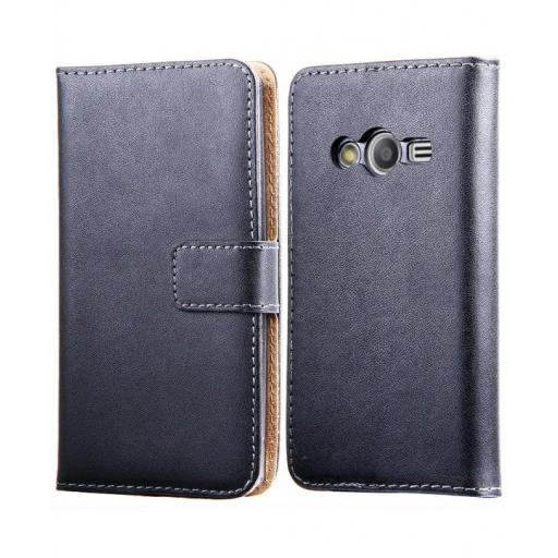 Samsung Ace 4 Genuine Leather Wallet Case