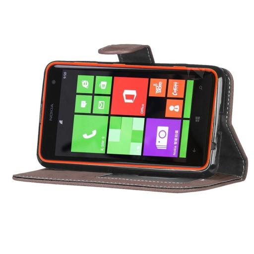 Nokia Lumia 625 PU Wallet Case Black