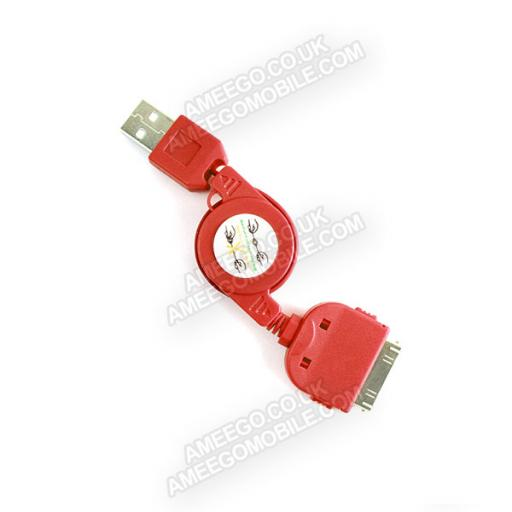 iPhone 4 / 4S / 3G / 3GS Retractable Charger Cable - 9 Colours