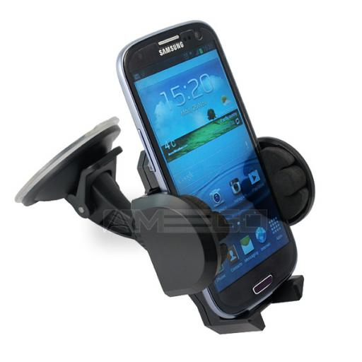 Universal Car Holder for Smart Phones (55-120mm) Short Neck