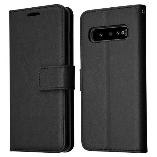 Samsung S10 Plus Genuine Leather Wallet Case