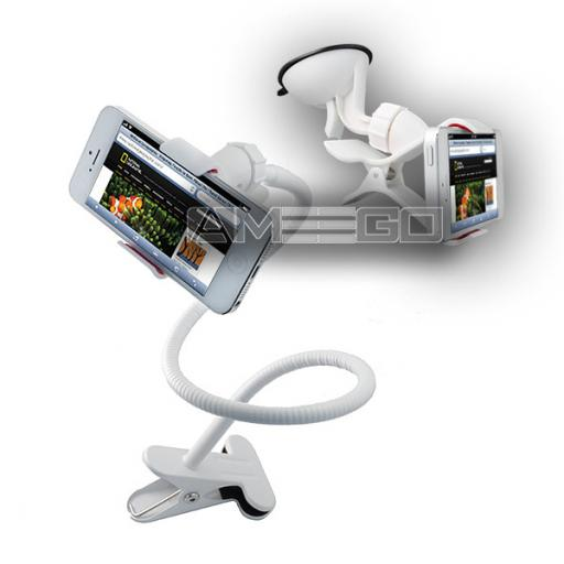 "Lazy Holder"" Set for Bedside, Table, In-Car or On-Bike Use - 2 Colours (Black, White)"