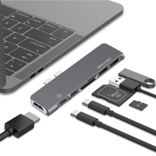 Dual Type C to USB 3.0 Combo HUB