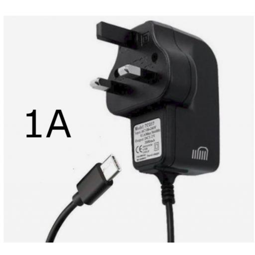 USBC Mains Charger 1A Black